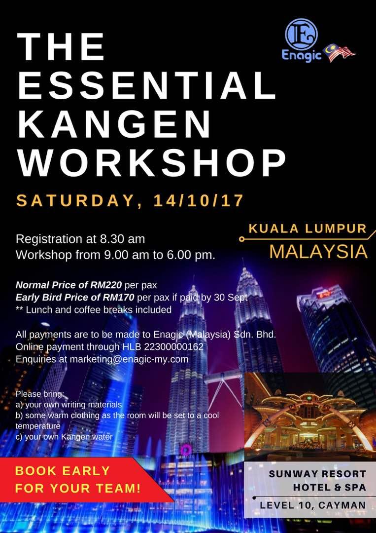 The Essential Kangen Workshop Kuala Lumpur