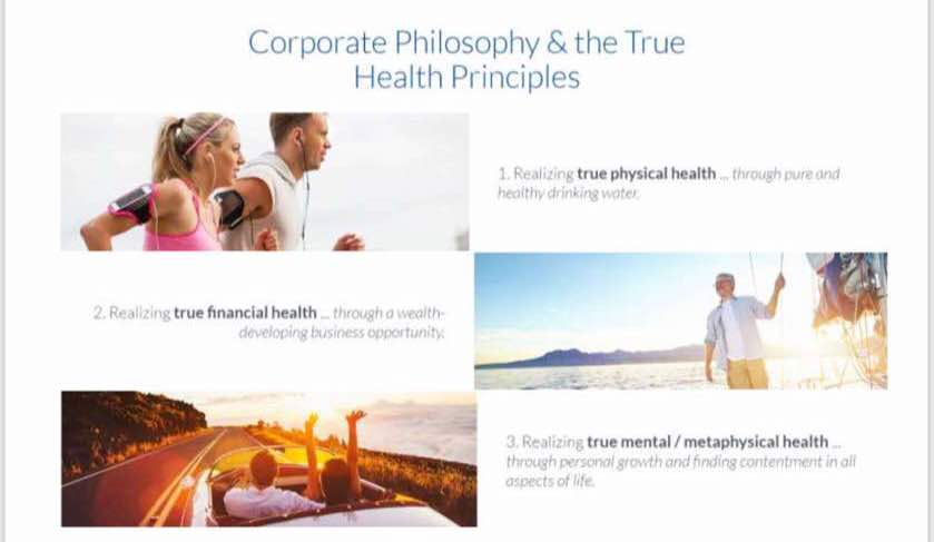 Corporate Philosophy & The True Health Principles