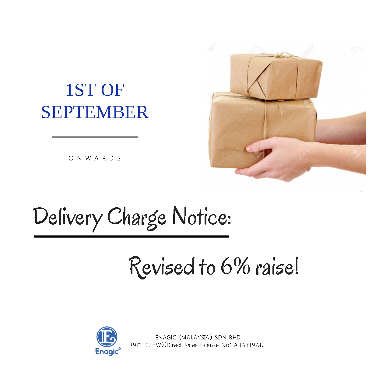 NOTICE: Delivery Charge