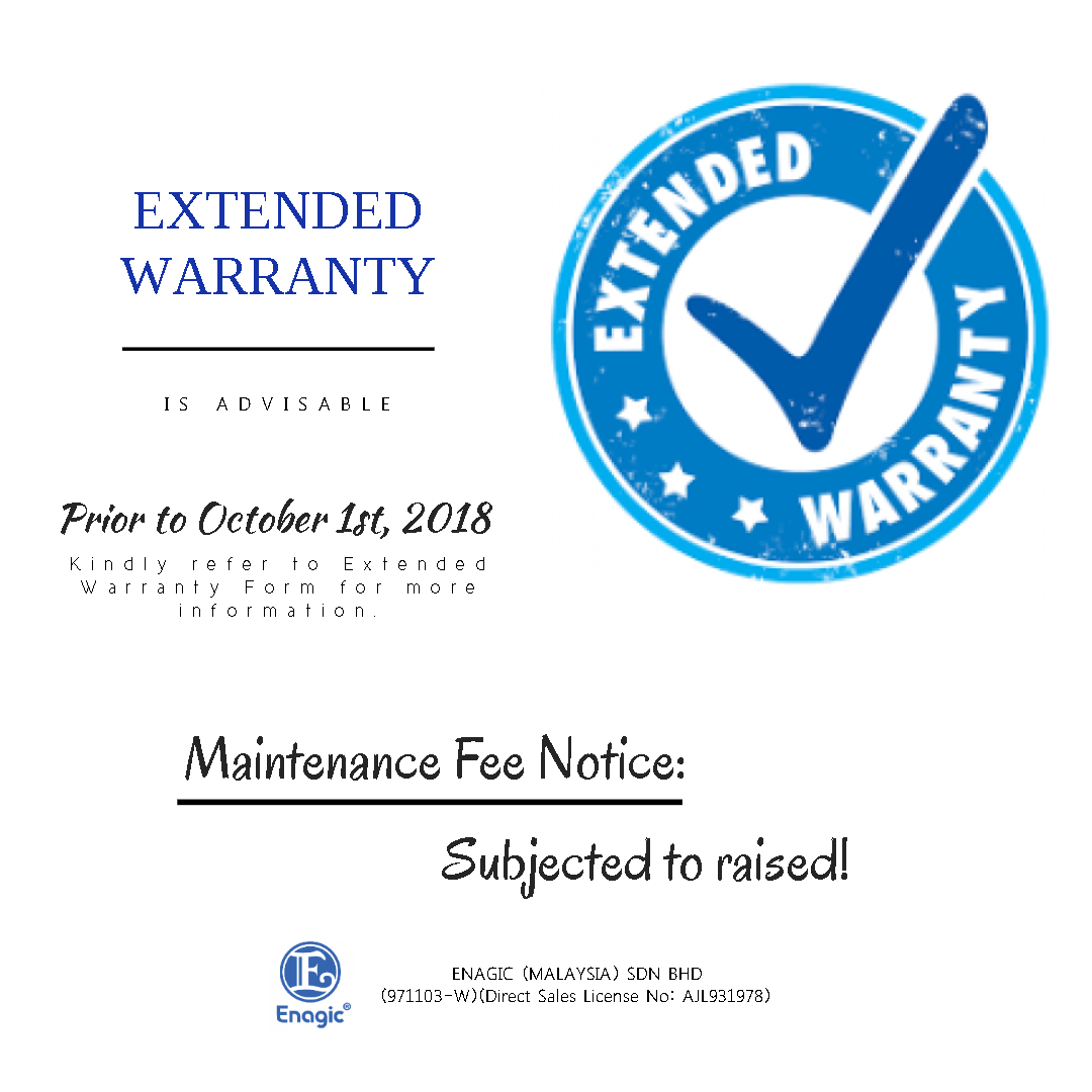 NOTICE: Extended Warranty Is ADVISABLE