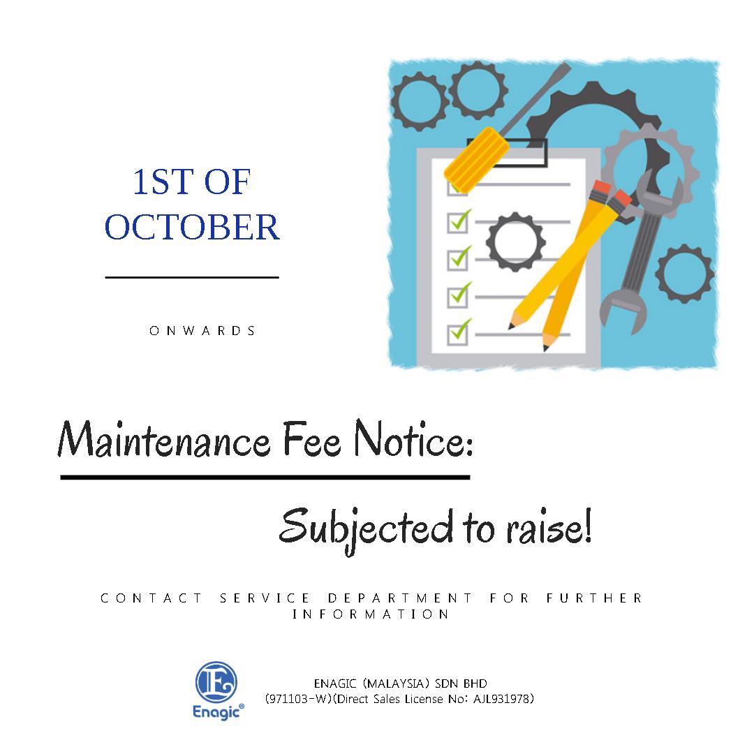 NOTICE: Maintenance Fee