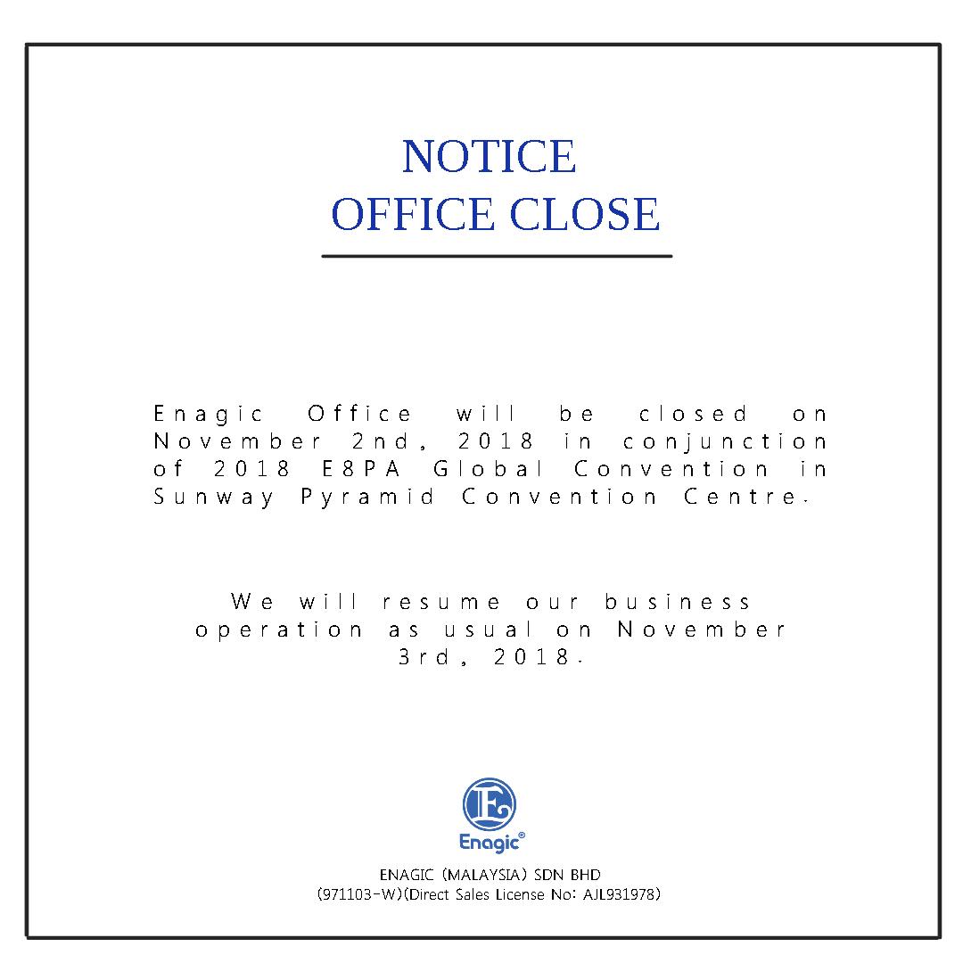 NOTICE : Office Closed