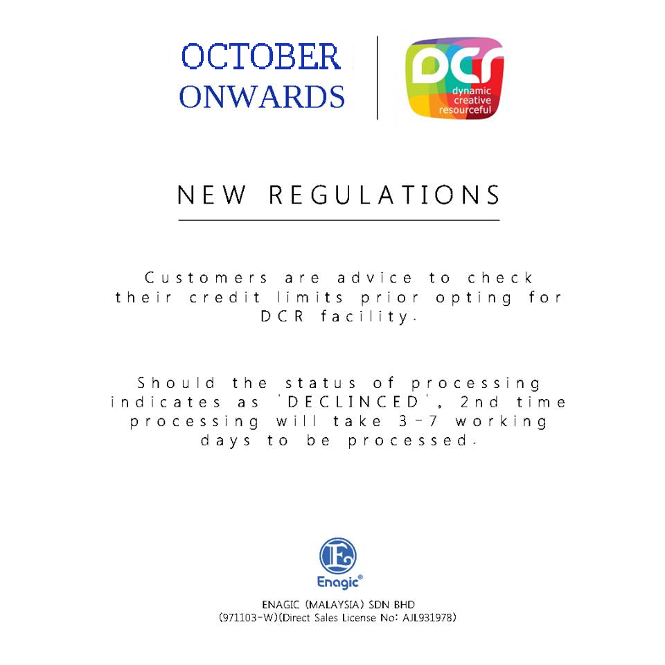 NOTICE: New Regulations – DCR
