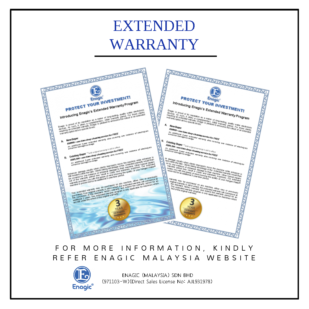 PROTECT YOUR INVESTMENT! | Introducing Enagic's Extended Warranty Program
