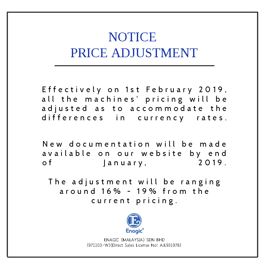 NOTICE: Price Adjustment