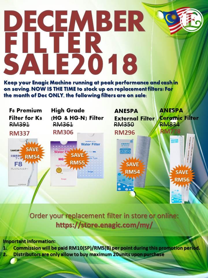December Filter Sale 2018