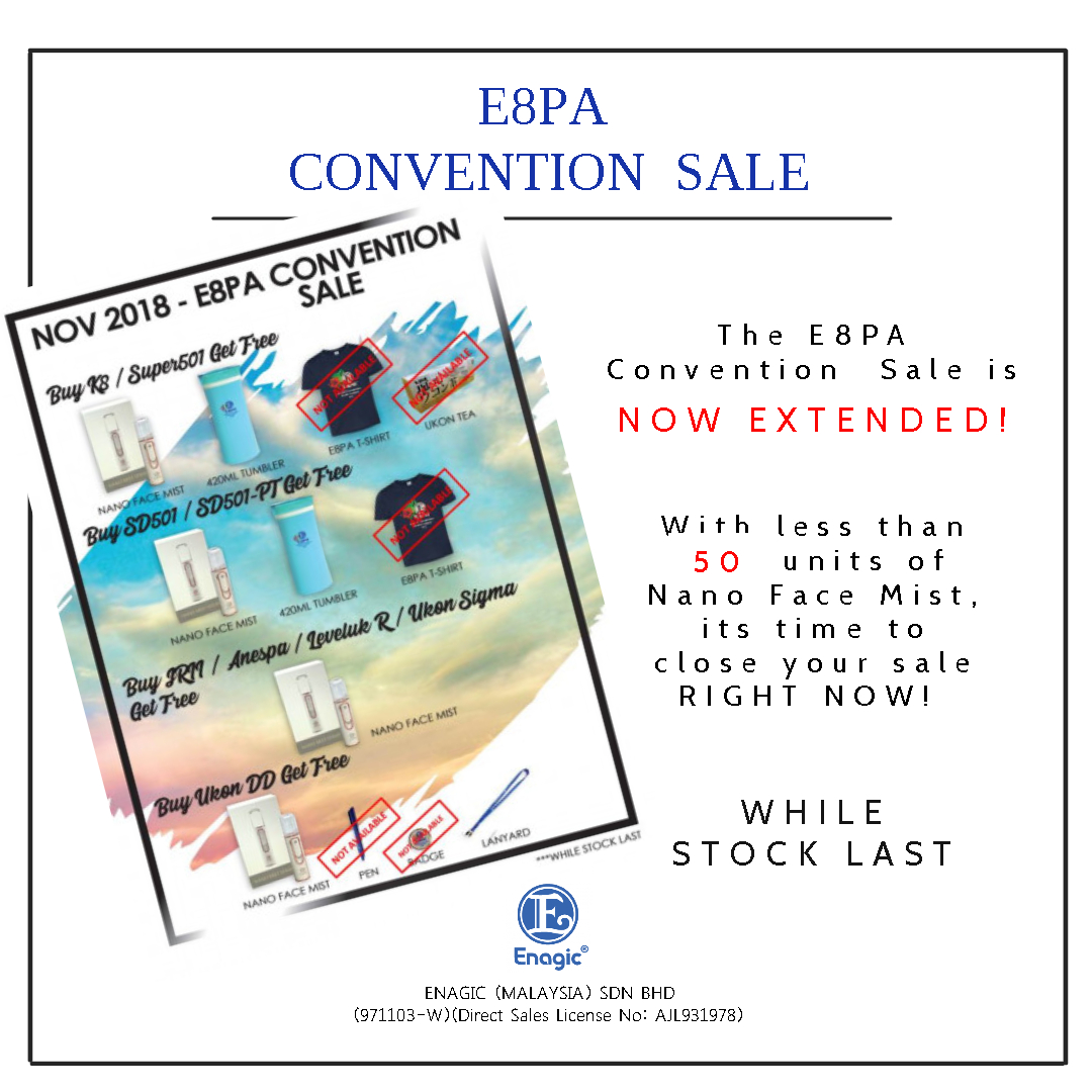E8PA Convention Sale (November 2018) – EXTENDED