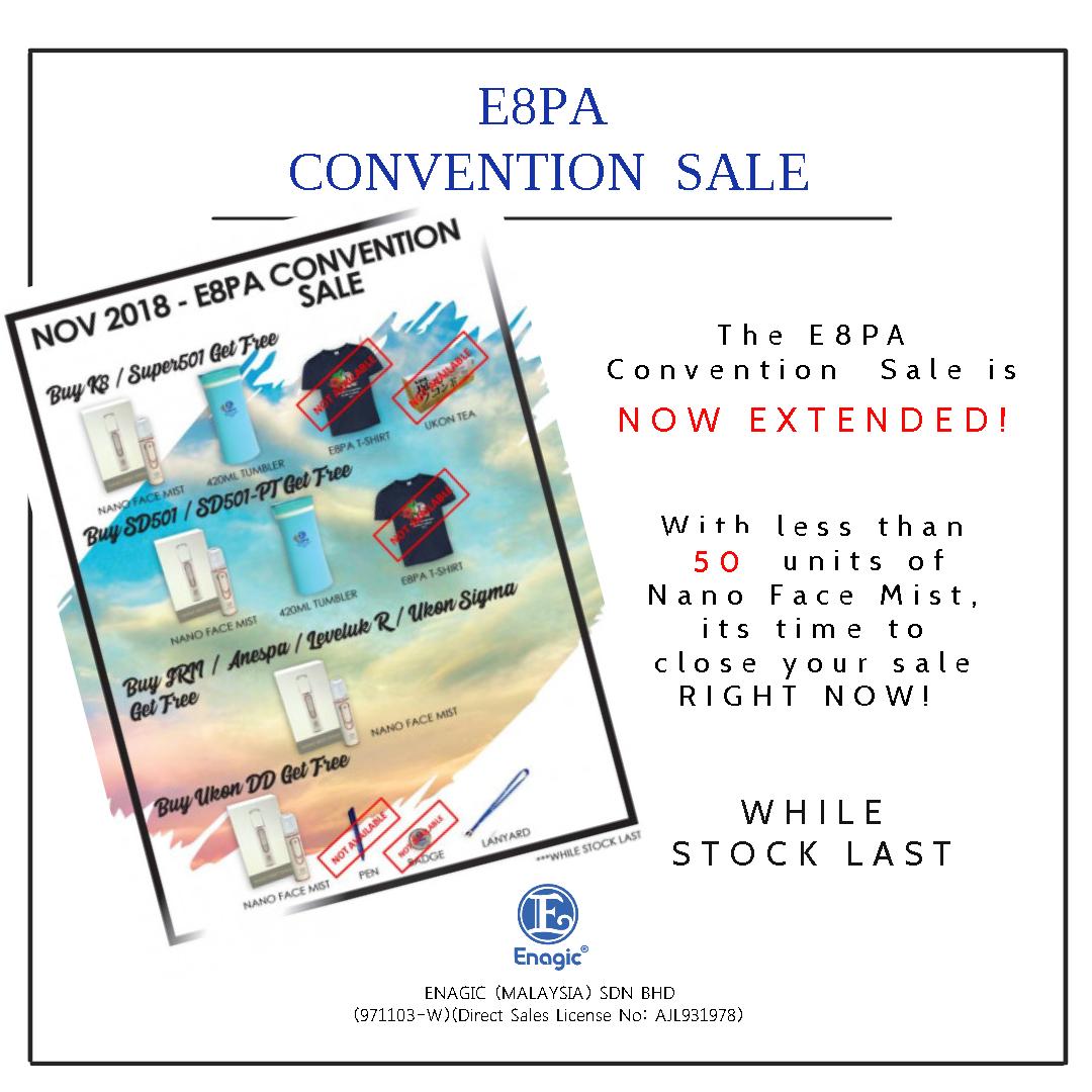 E8PA Convention Sale