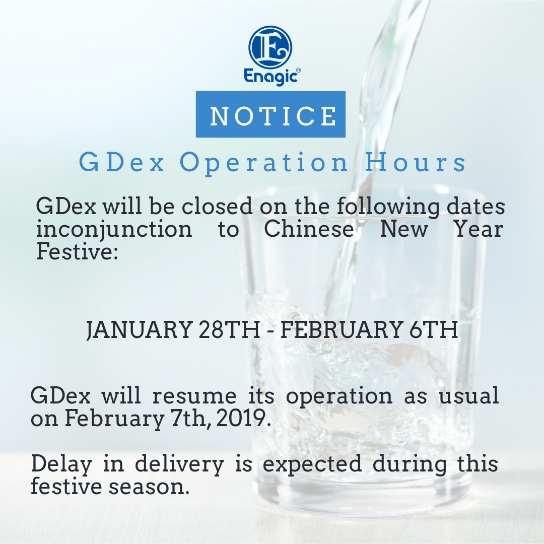 NOTICE | GDex Operation Hours