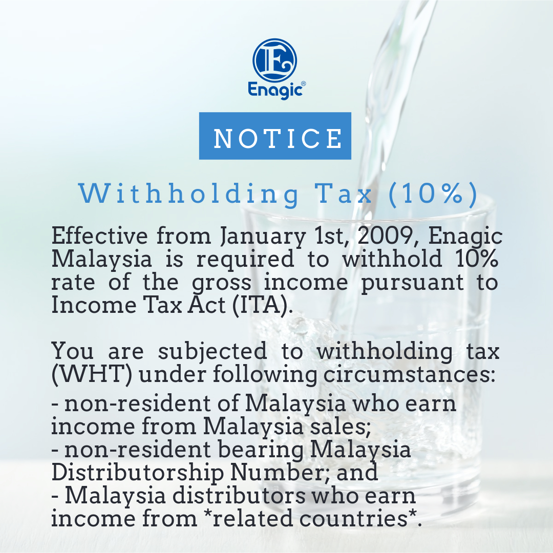NOTICE | Withholding Tax (10%)