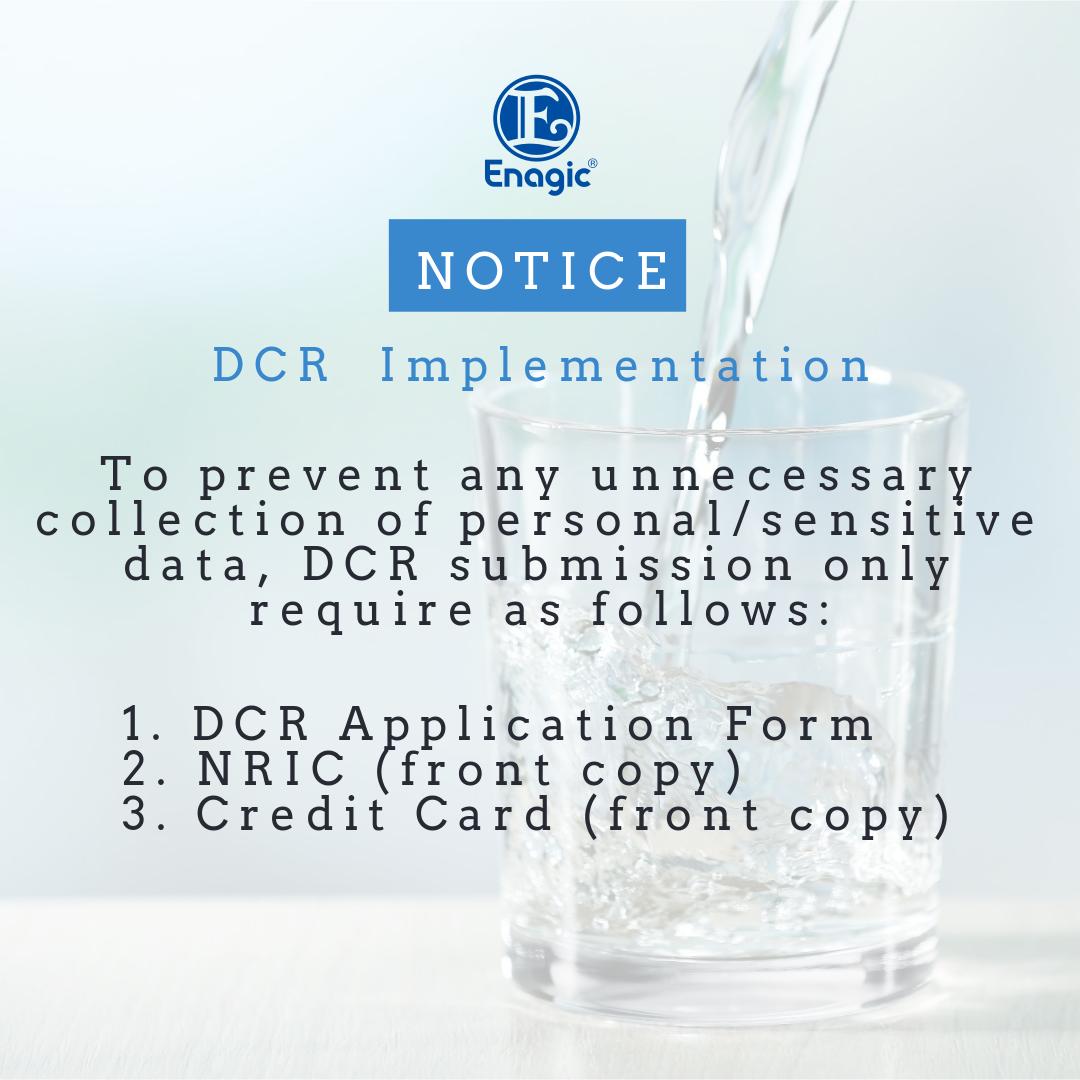 NOTICE | DCR Implementation