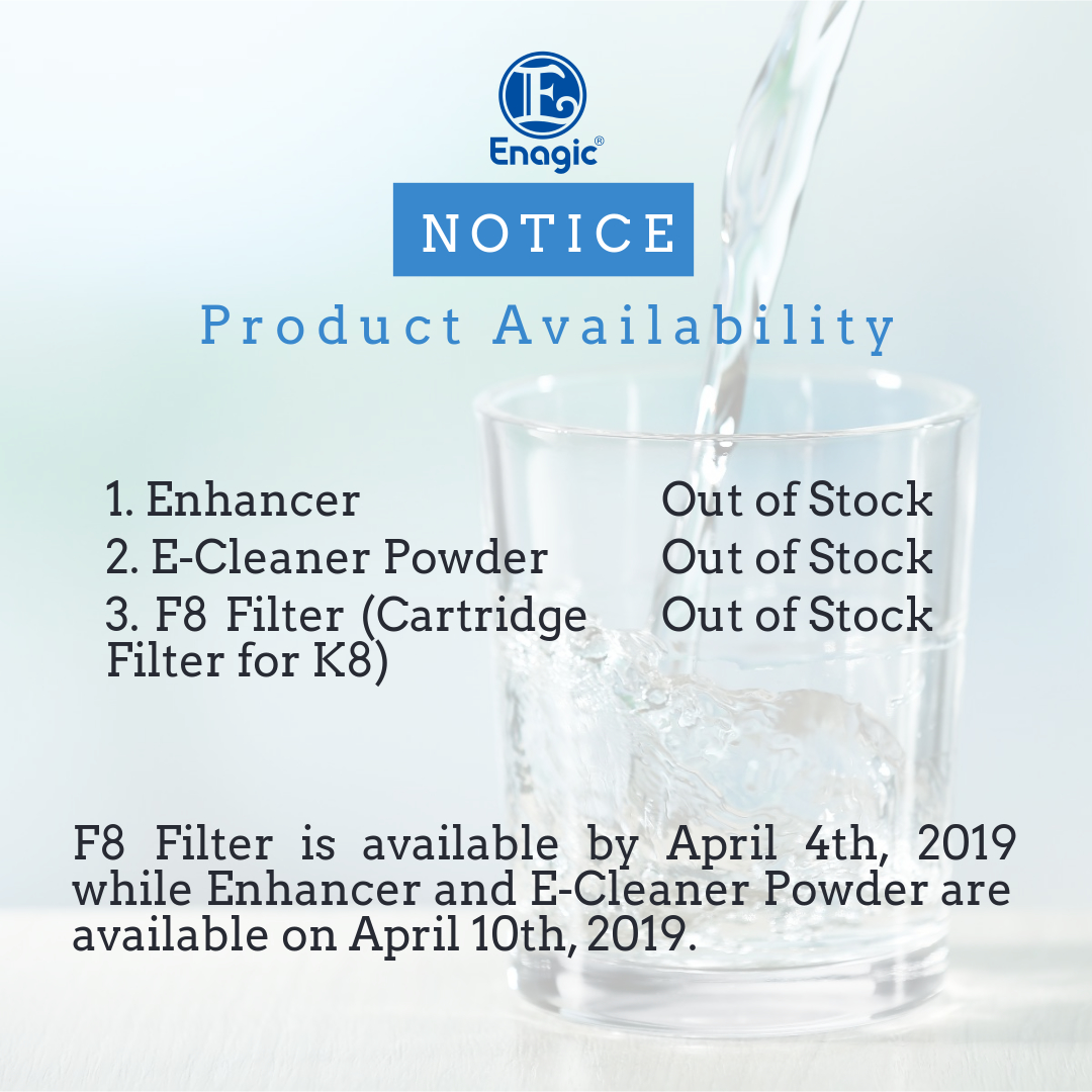 NOTICE | Product Availability