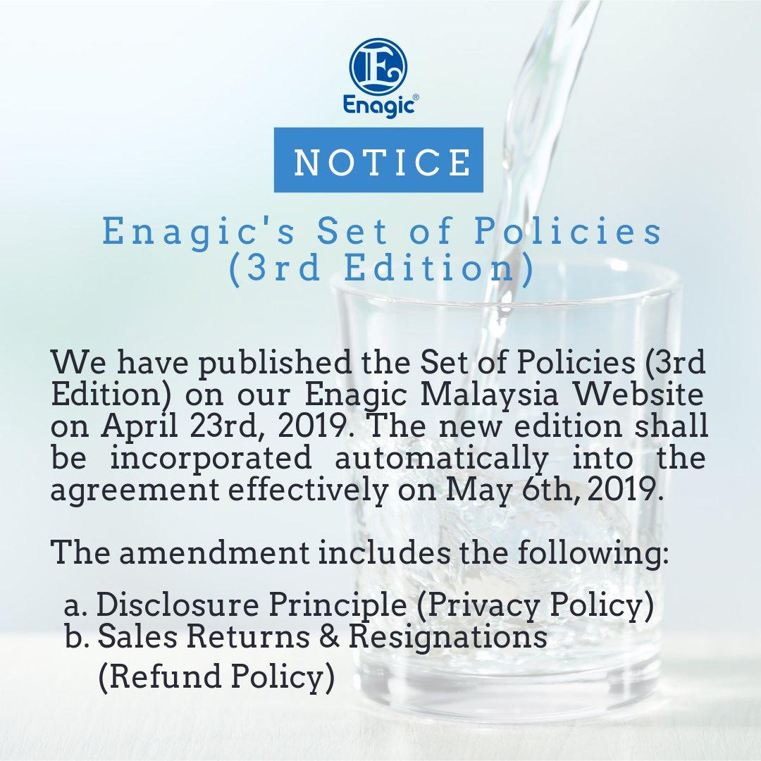 Enagic Set Of Policies (3rd Edition)