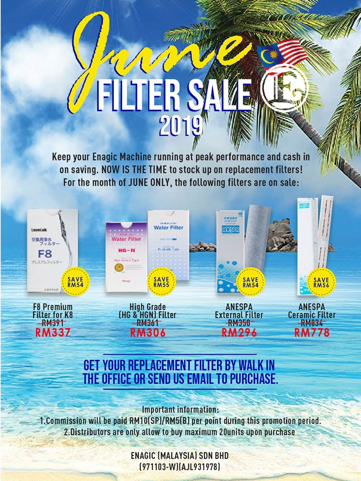 June Filter Sale 2019