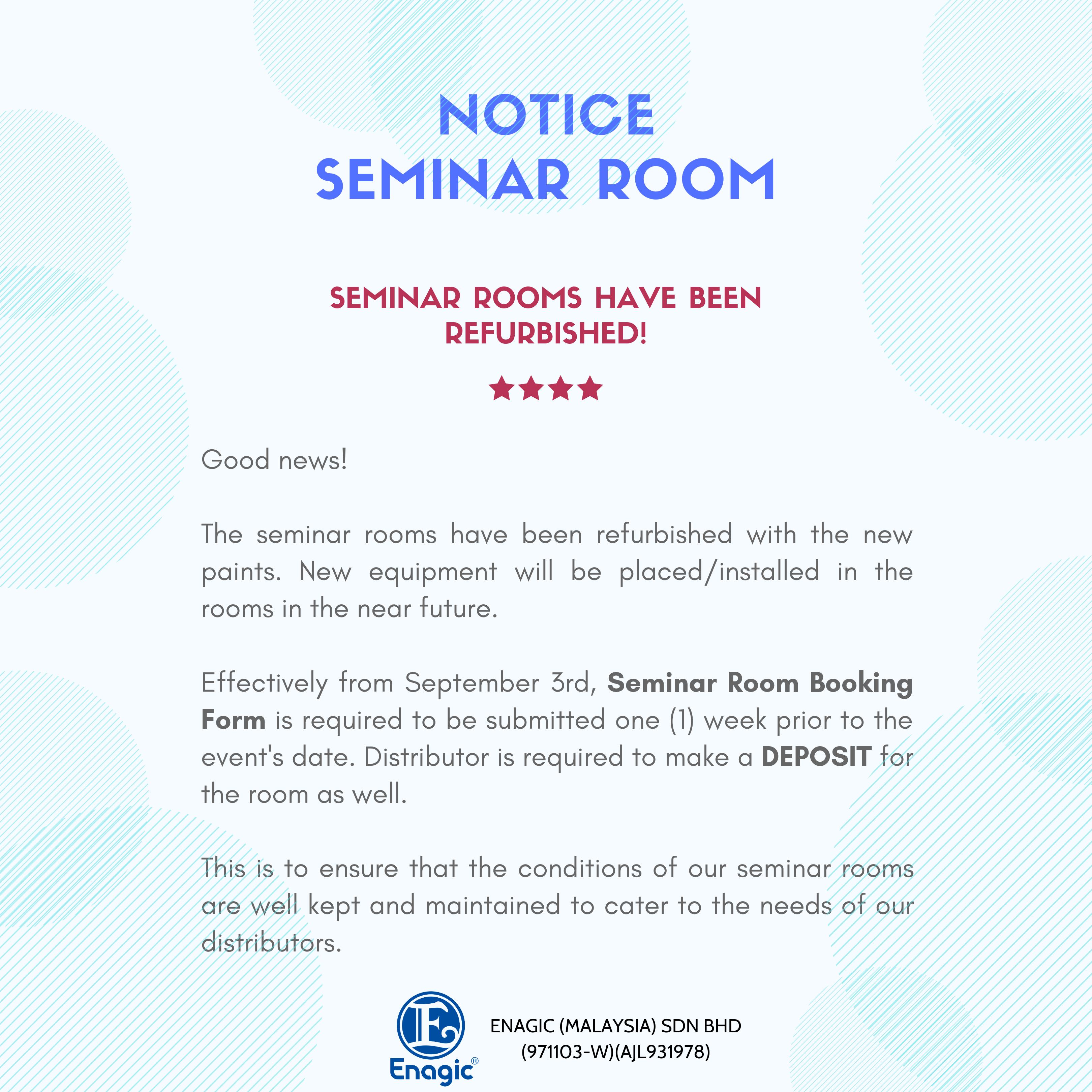 NOTICE |Seminar Rooms