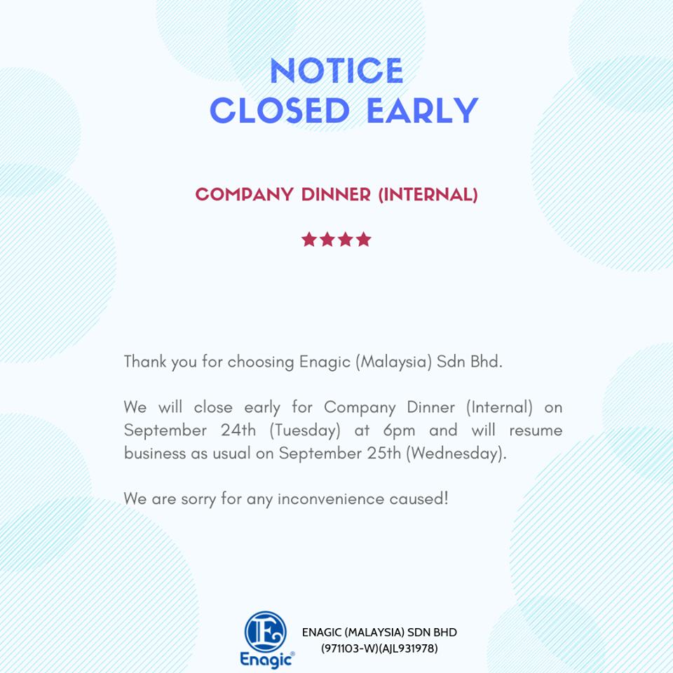 Public Holidays Closed Notice Archives Enagic Malaysia Sdn Bhd