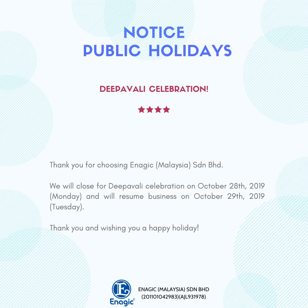 NOTICE | Public Holiday (Deepavali)