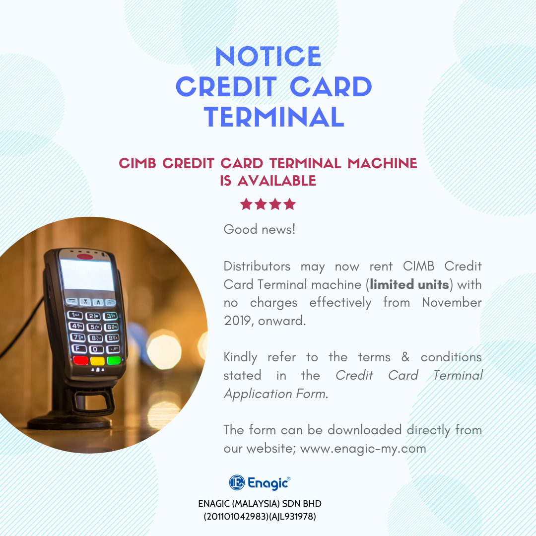 NOTICE | CIMB Credit Card Terminal