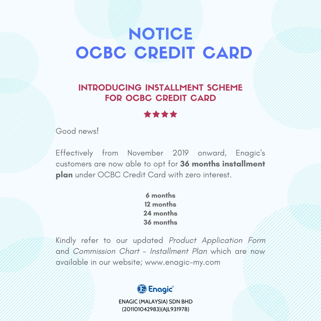 NOTICE | OCBC Credit Card