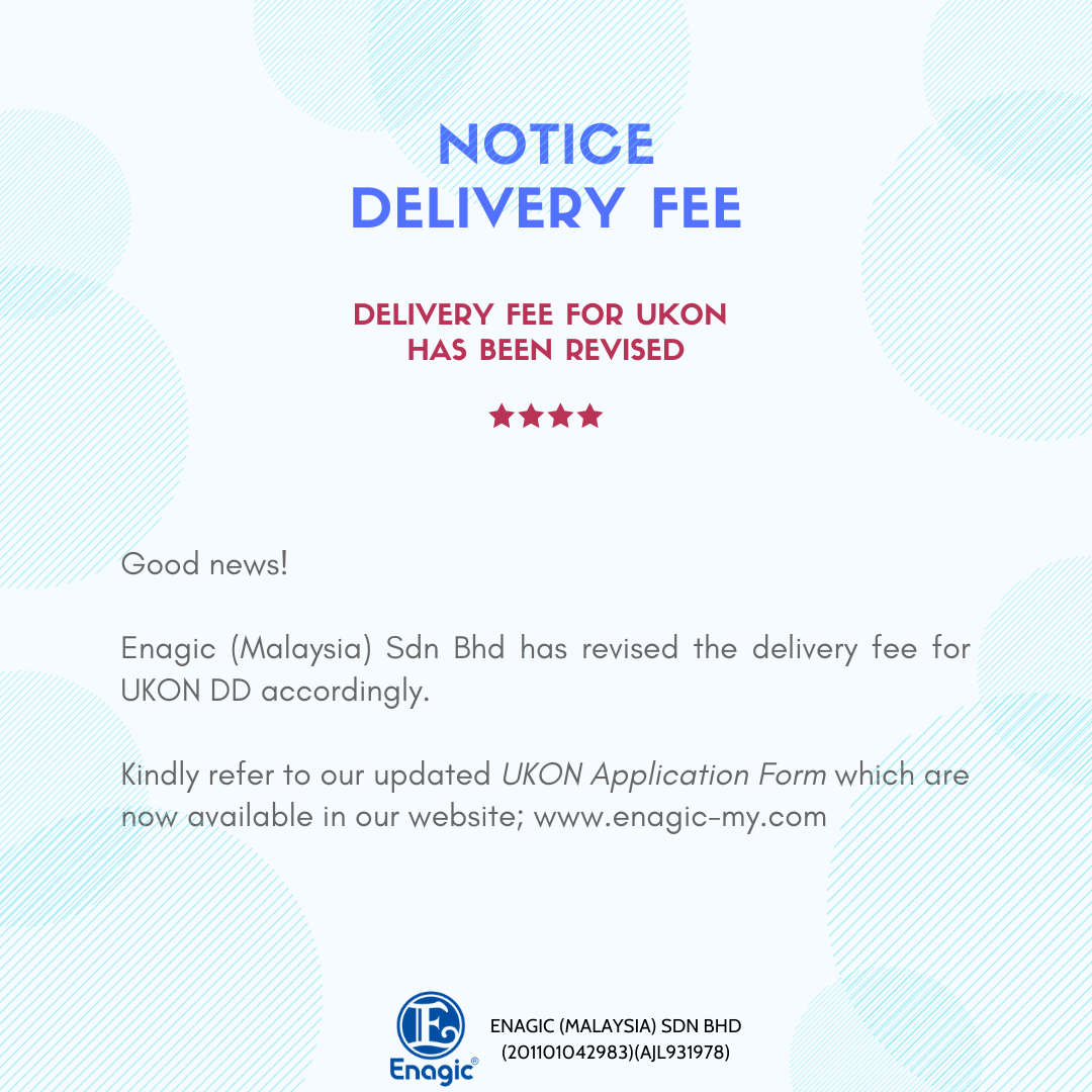 NOTICE | UKON Delivery Fee (Revised)