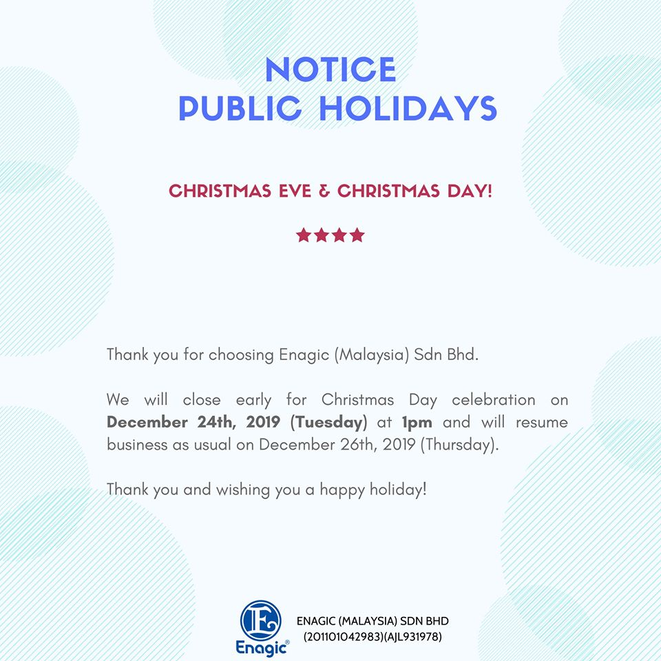 NOTICE | Public Holiday – Office Close