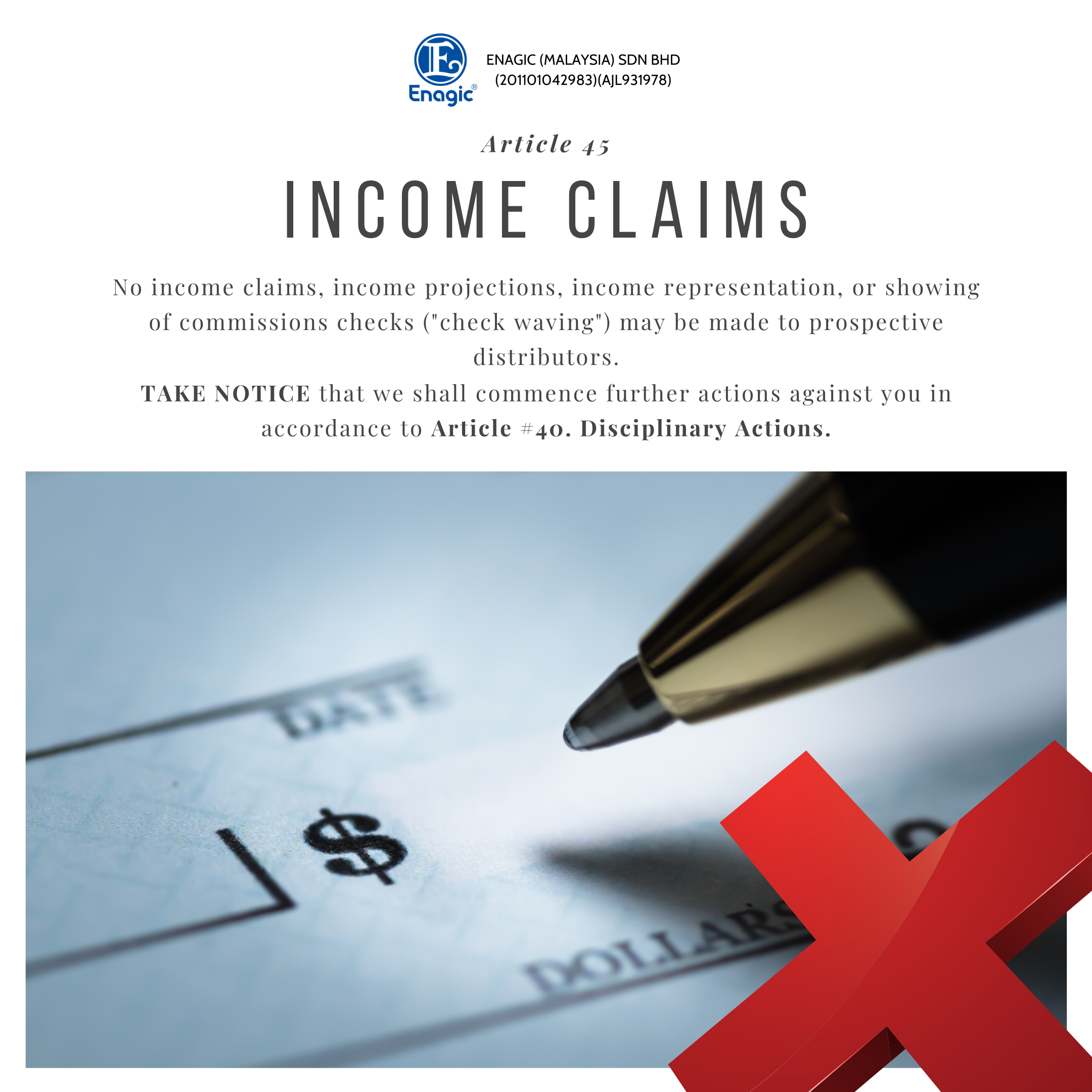 NOTICE | Income Claims
