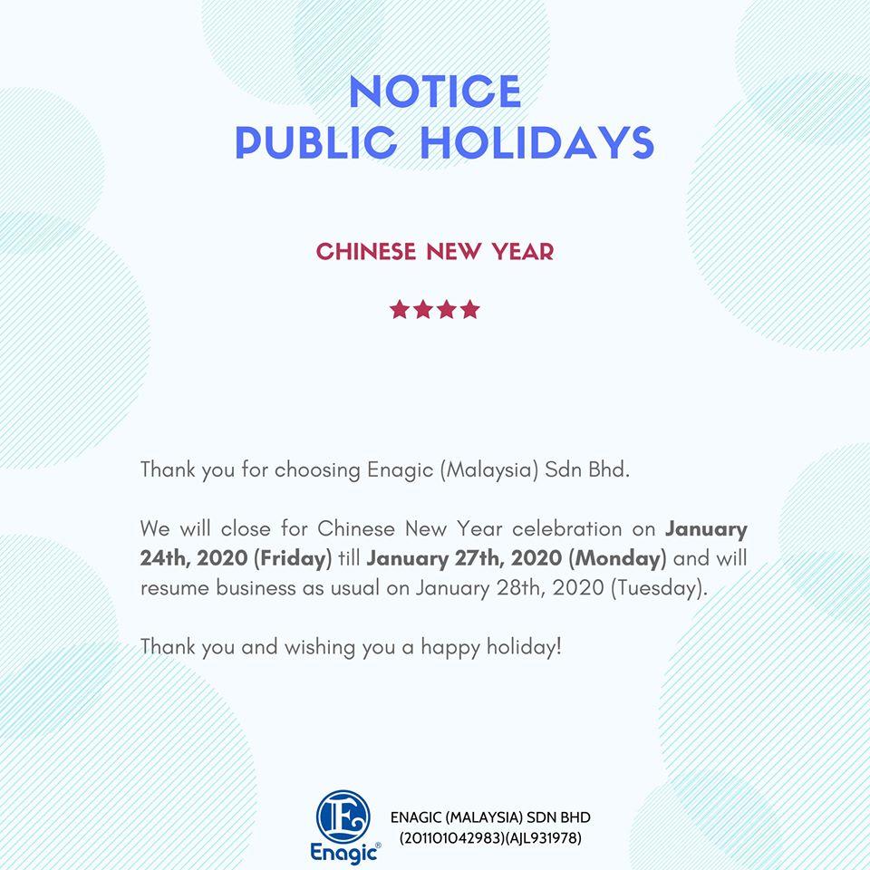 NOTICE | Public Holiday