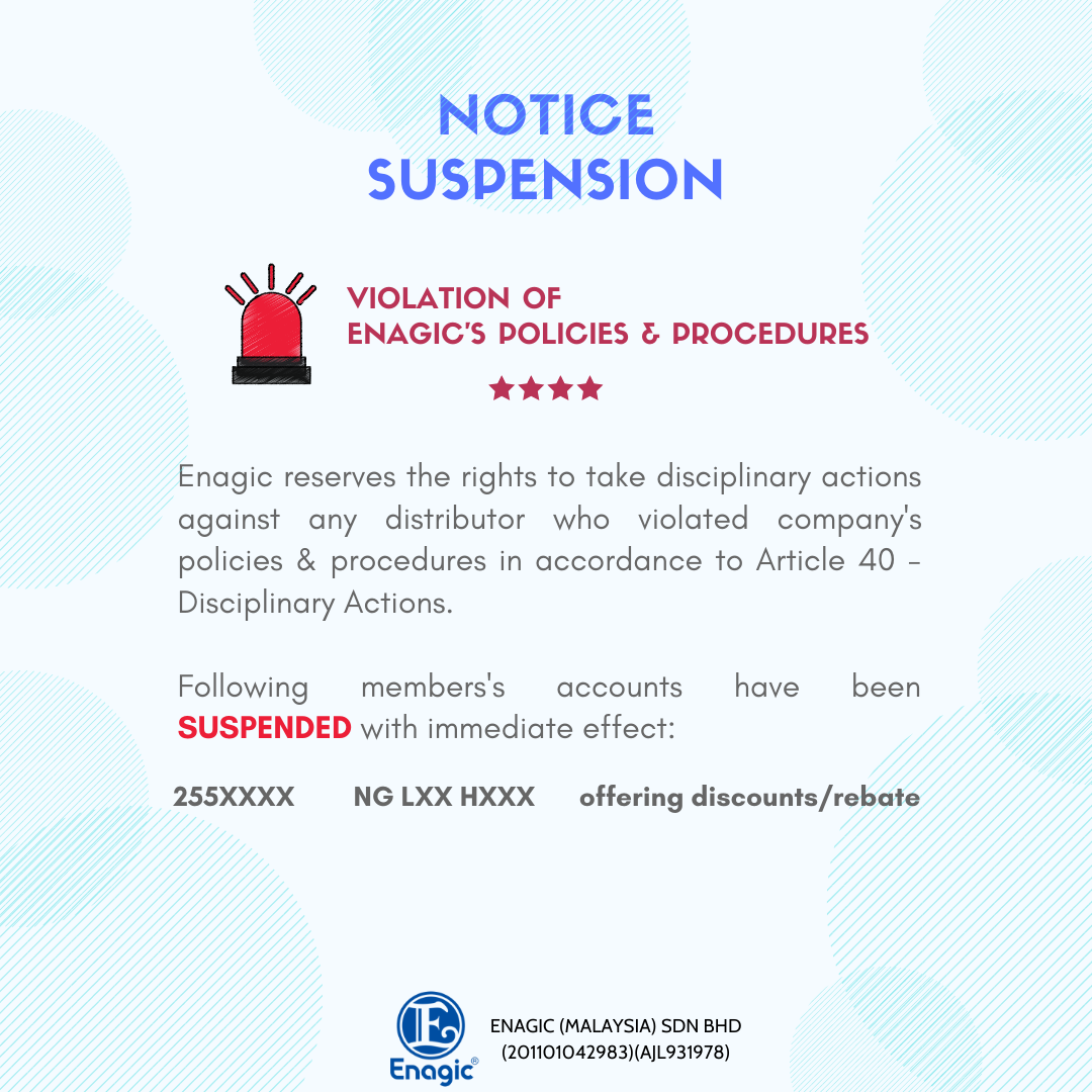 NOTICE | Suspension Of Account