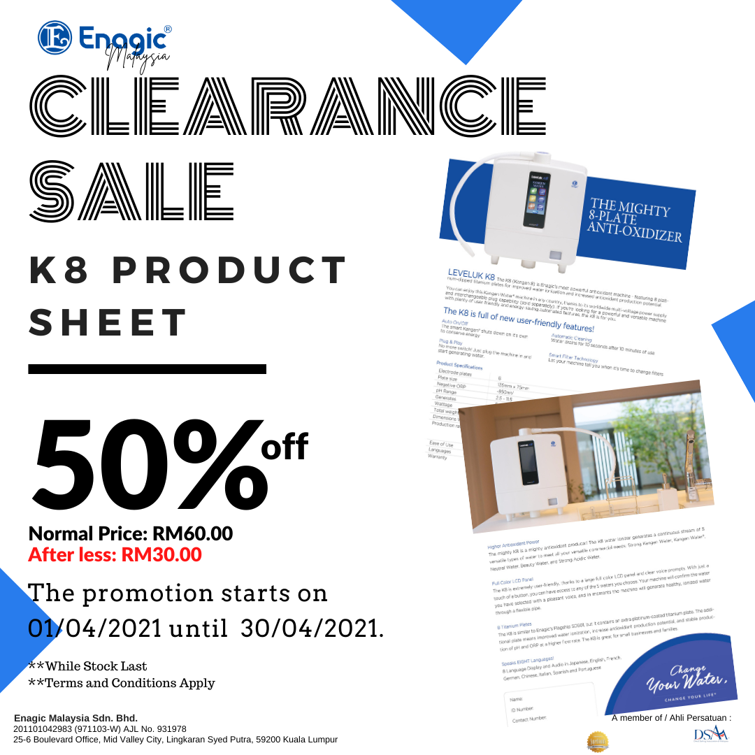 PROMO | Clearance Sale (50% Off) Of The Product Sheet (K8)
