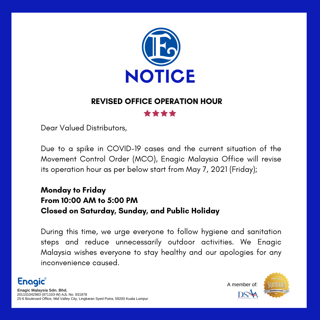 NOTICE | Revised Office Operation Hour