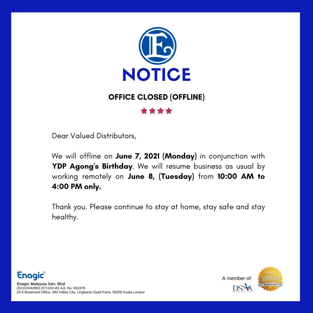 NOTICE | Office Closed