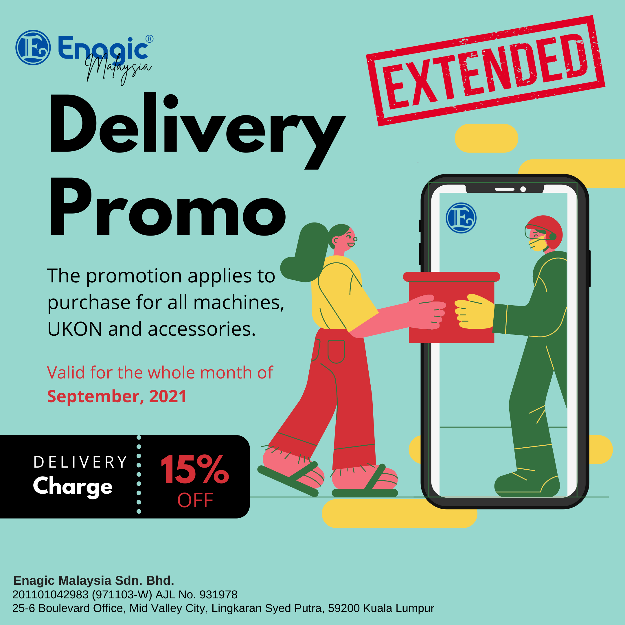 PROMO | 15% Off Delivery Charge (EXTENDED)