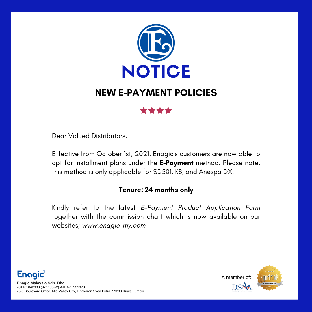 New E-Payment Policies Update
